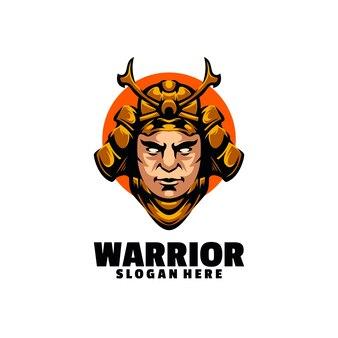Desenho de guerreiro zangado pronto para a guerra