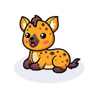 Desenho de hiena bebê fofo deitada