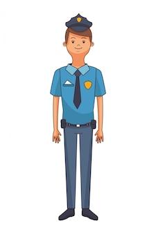 Desenho de homem de polícia