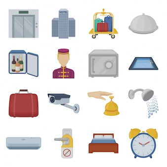 Desenho de hotel definir ícone