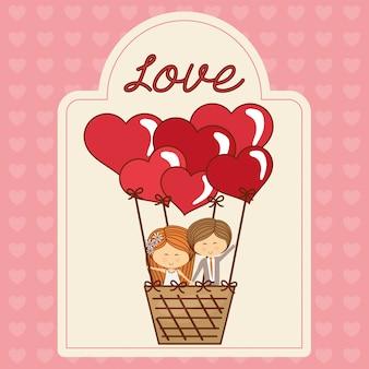 Desenho de ícone de amor
