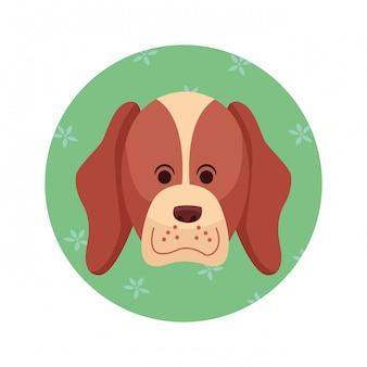 Desenho de ícone de cachorro fofo