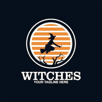Desenho de ícone de chapéu de bruxa para festas e feriados de halloween