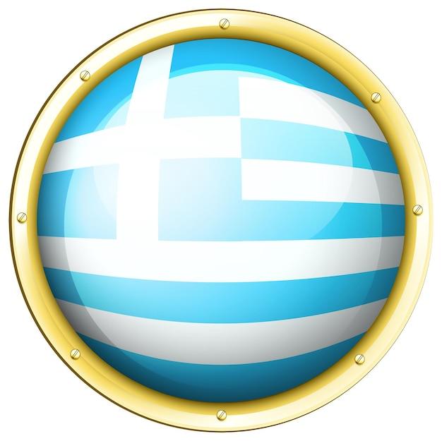 Desenho de ícone para bandeira da grécia
