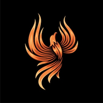Desenho de ilustração colorida de phoenix
