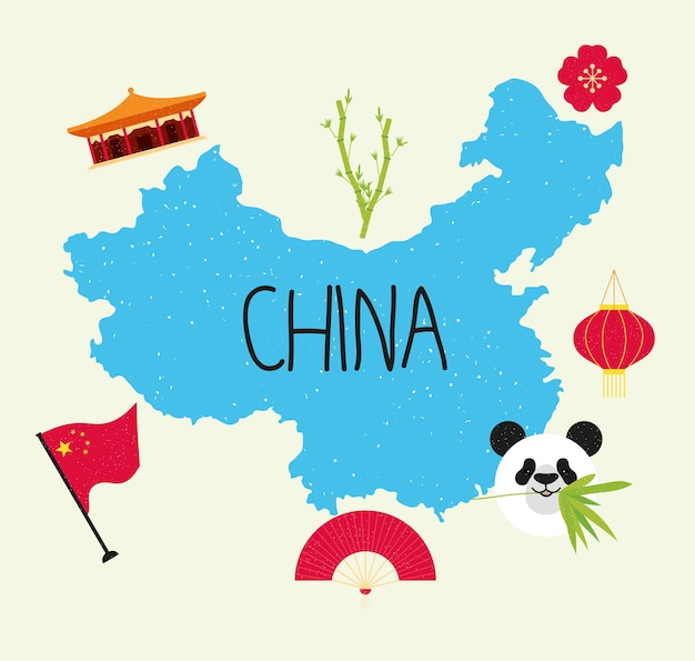 Desenho de ilustração da china