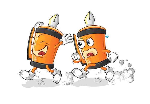 Desenho de ilustração de desenho animado engraçado caneta play