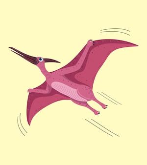 Desenho de ilustração de desenho animado pteranodon