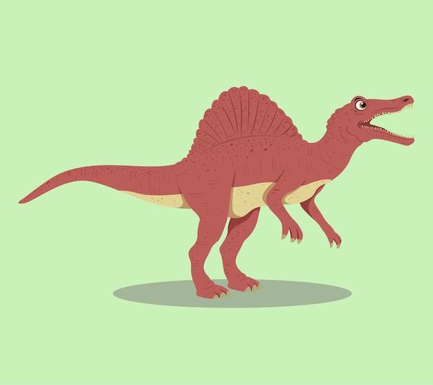 Desenho de ilustração de desenhos animados spinosaurus