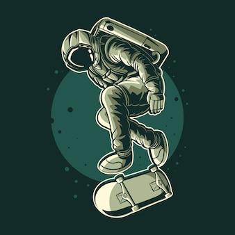 Desenho de ilustração de estilo livre de astronauta
