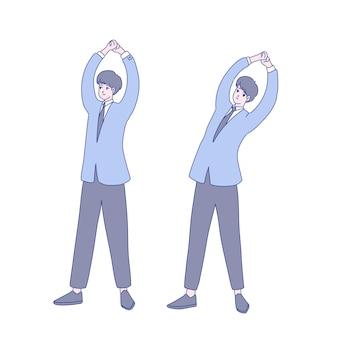 Desenho de ilustração de exercício de empresário