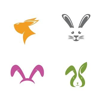 Desenho de ilustração de ícone de vetor de modelo de coelho