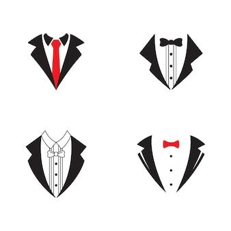 Desenho de ilustração de ícone de vetor de modelo exclusivo de smoking