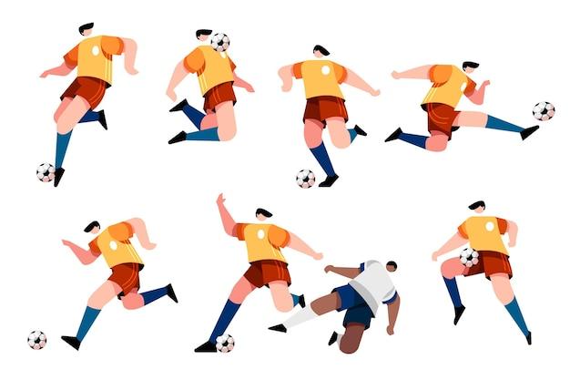 Desenho de ilustração de jogadores de futebol