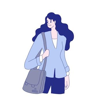 Desenho de ilustração de mulher de negócios