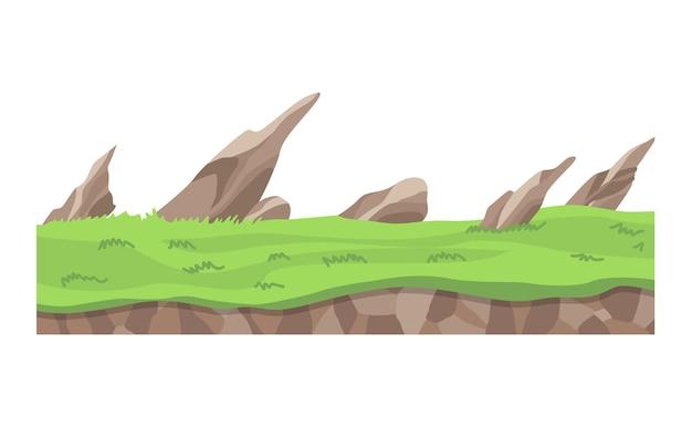 Desenho de ilustração de paisagem de jogo