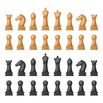 Desenho de ilustração de peças de xadrez