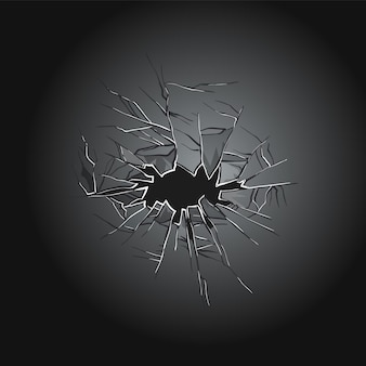 Desenho de ilustração de vidro quebrado