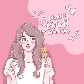 Desenho de ilustração do dia mundial da saúde