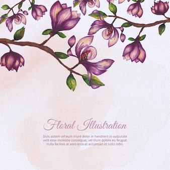 Desenho de ilustração floral