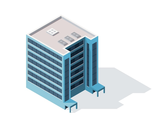 Desenho de ilustração isométrica de escritórios