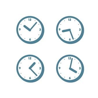 Desenho de ilustração plana de relógio isolado