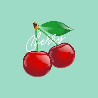 Desenho de ilustração vetorial de cereja