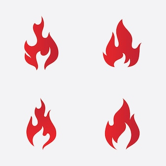 Desenho de ilustração vetorial de chama de fogo