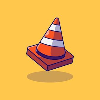 Desenho de ilustração vetorial de cone de tráfego