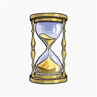 Desenho de ilustração vetorial de relógio de areia