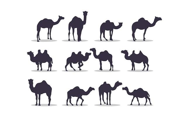 Desenho de ilustração vetorial de silhueta de camelo