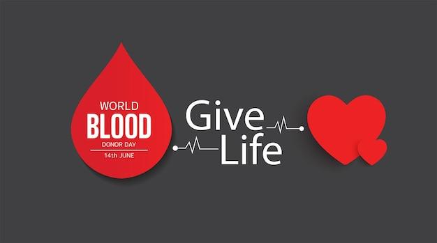 Desenho de ilustração vetorial para o dia mundial do doador de sangue