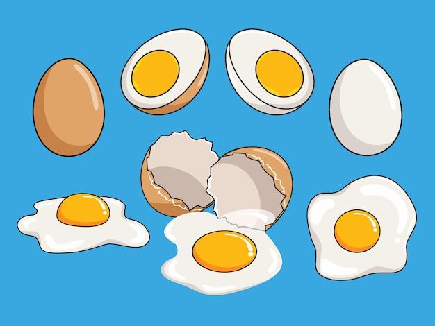 Desenho de ilustrações de ovo