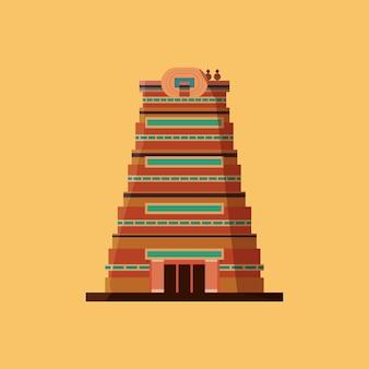 Desenho de india com sri meenakshi temple icon