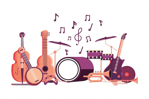 Desenho de instrumento de música