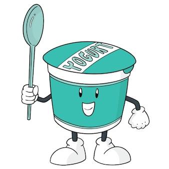 Desenho de iogurte