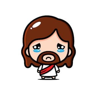 Desenho de jesus chorando