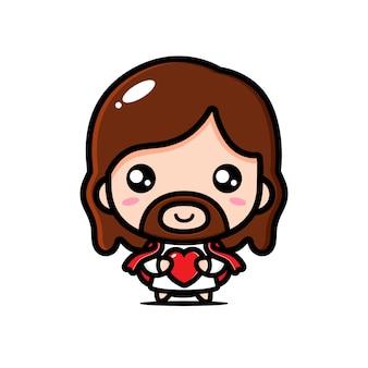 Desenho de jesus com amor