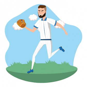 Desenho de jogador de beisebol