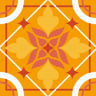 Desenho de ladrilho laranja