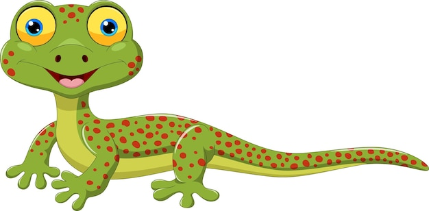 Desenho de lagarto fofo