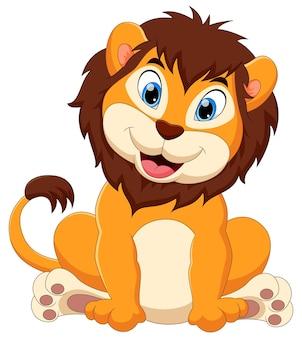 Desenho de leão bebê fofo