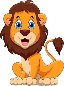 Desenho de leão feliz