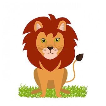 Desenho de leon selvagem