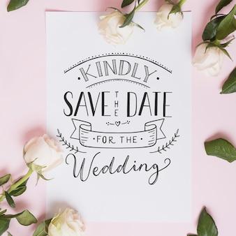 Desenho de letras de casamento