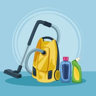 Desenho de limpeza de limpeza