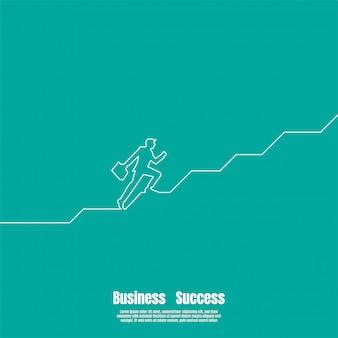 Desenho de linha contínua do empresário