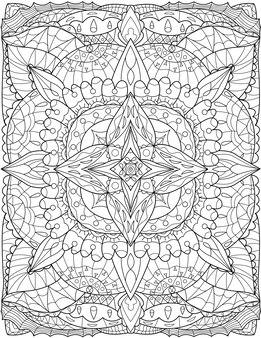 Desenho de linha linda flor grande lírio rodeado por folhas puras que crescem no solo. desenho de linha grande e bonita planta fechado com lindas pétalas que florescem no jardim.