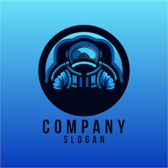 Desenho de logotipo de astronauta