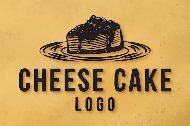 Desenho de logotipo de bolo de queijo inspirado